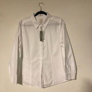 Chico's NWT white button down shirt